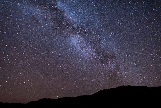 Galaxy skies on mountain bike safari tour Namibia