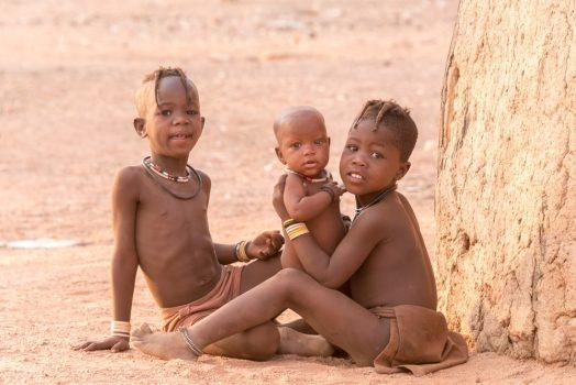 Himba village visits on mountain bike safari tour Namibia