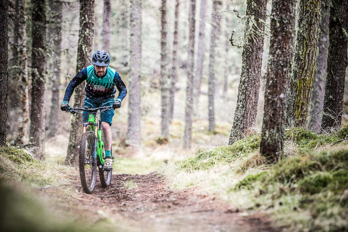 Training in the winter, part of our 5 Tips For Your First Mountain Bike Tour.