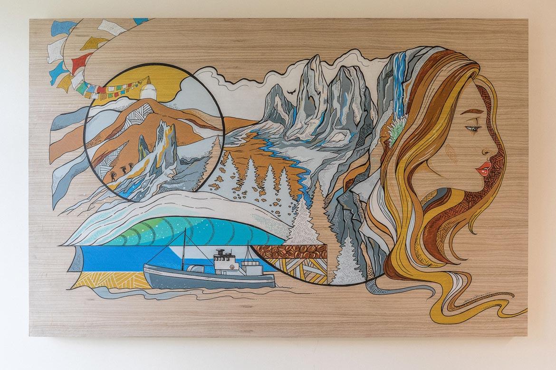 10 years of mountain bike adventures - Skye's Mural