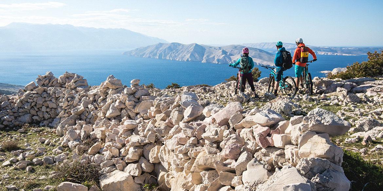 mountain bike tours - descending into Croatia