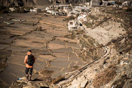 Mountain bike tour Nepal - admiring the views