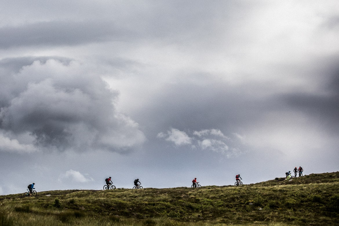 Mountain bikers on the Atlantic coast of Norway, part of our mountain bike tour Norway in photos.