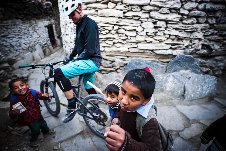 Essence of mountain biking in Nepal - friendly locals