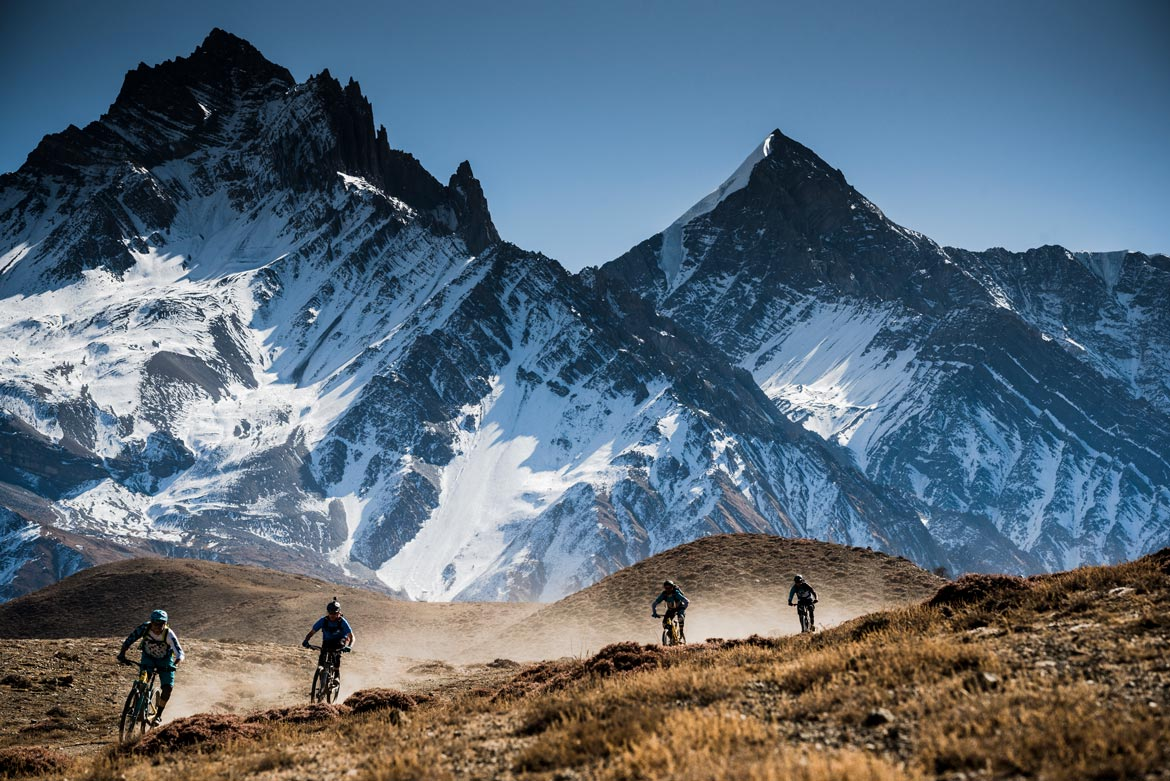 Essence of mountain biking in Nepal - unreal landscapes