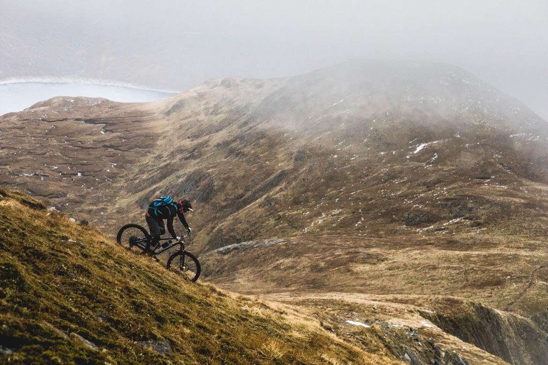 Joe Barnes descending towards Loch Quoich.