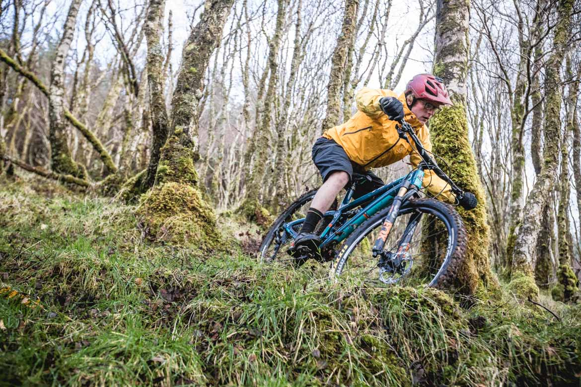 H+I Guide Mark Clark in the woods of Torlundy, Fort William. Part of our mtb tips blog.