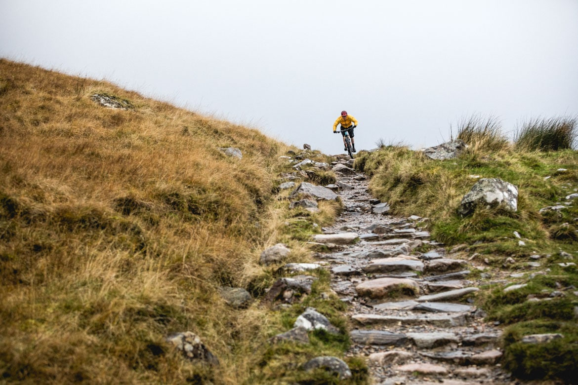 H+I mountain bike guide Mark Clark on the Ben Nevis path in Fort William.