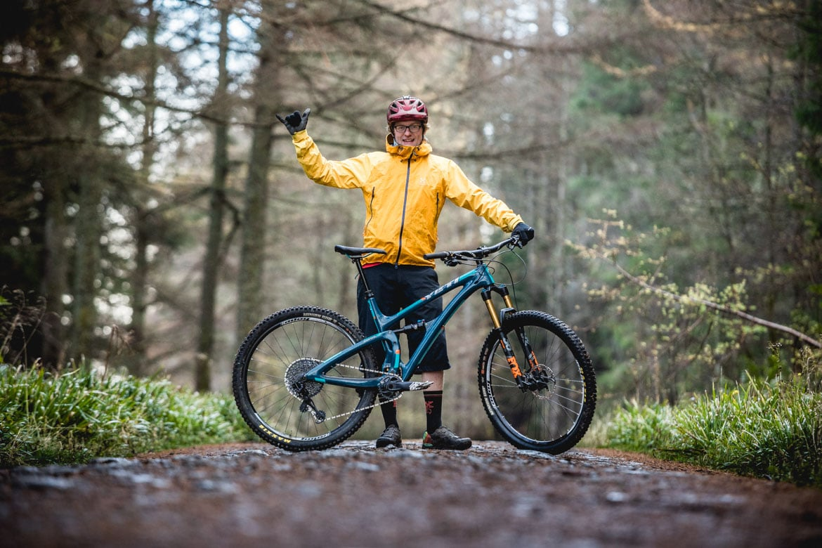 Hitting the trails of Torlundy, Fort William with local H+I guide Mark Clark.