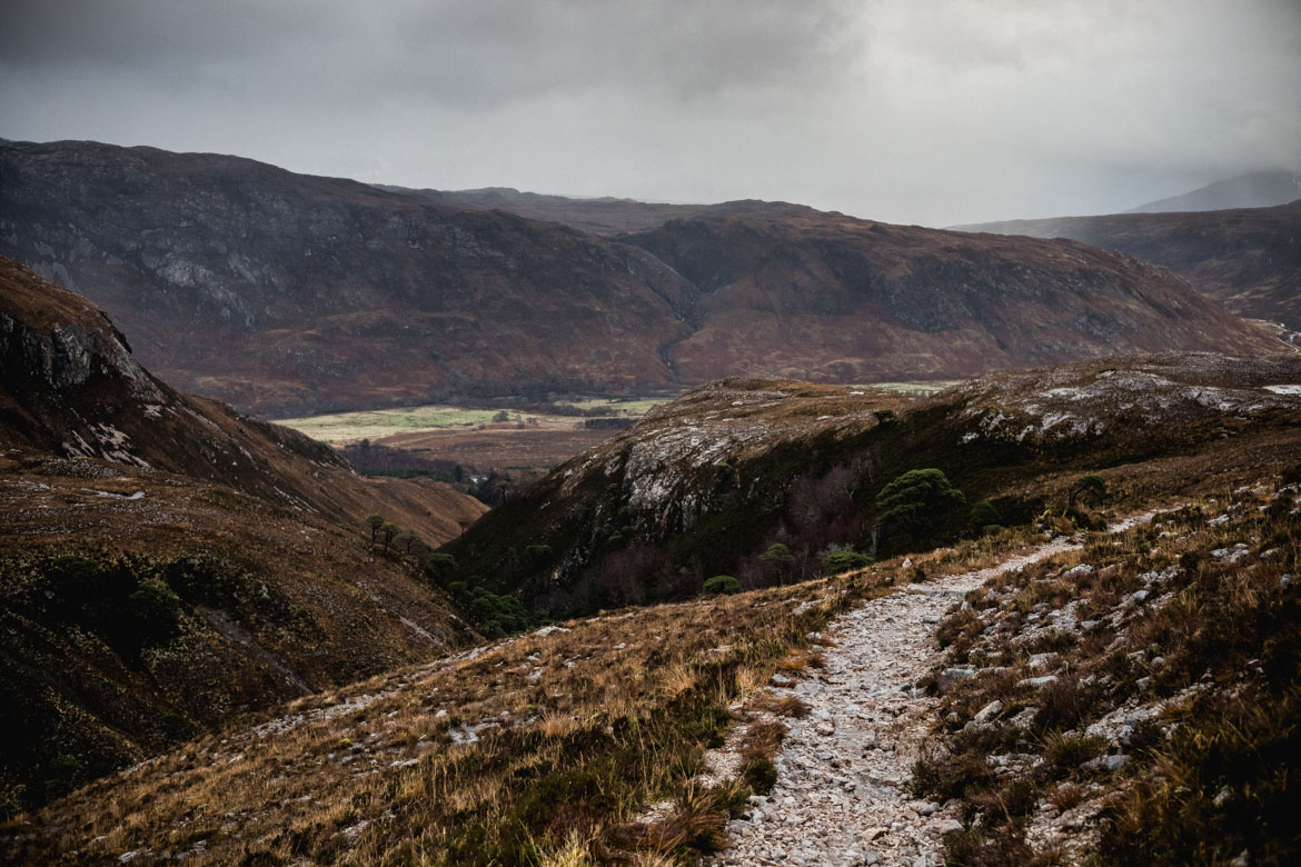 Trail in Kinlochewe, Scotland during a ride with Scott Laughland.