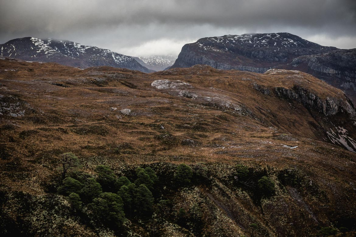 Landscape of Kinlochewe during a ride with Scott Laughland.