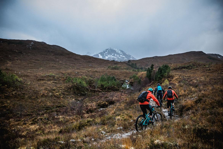 Scott Laughand and Greg Williamson ascending Beinn Eighe.