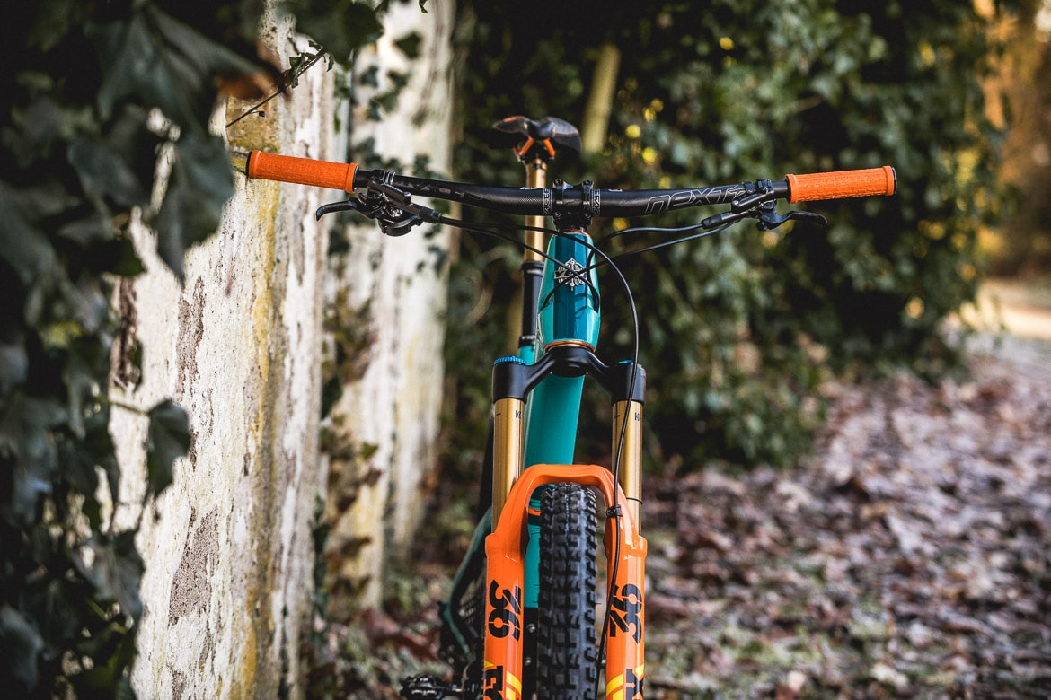 H+I Adventures guide's bikes, the Yeti SB5 LR Edition with carbon Race Face bars.