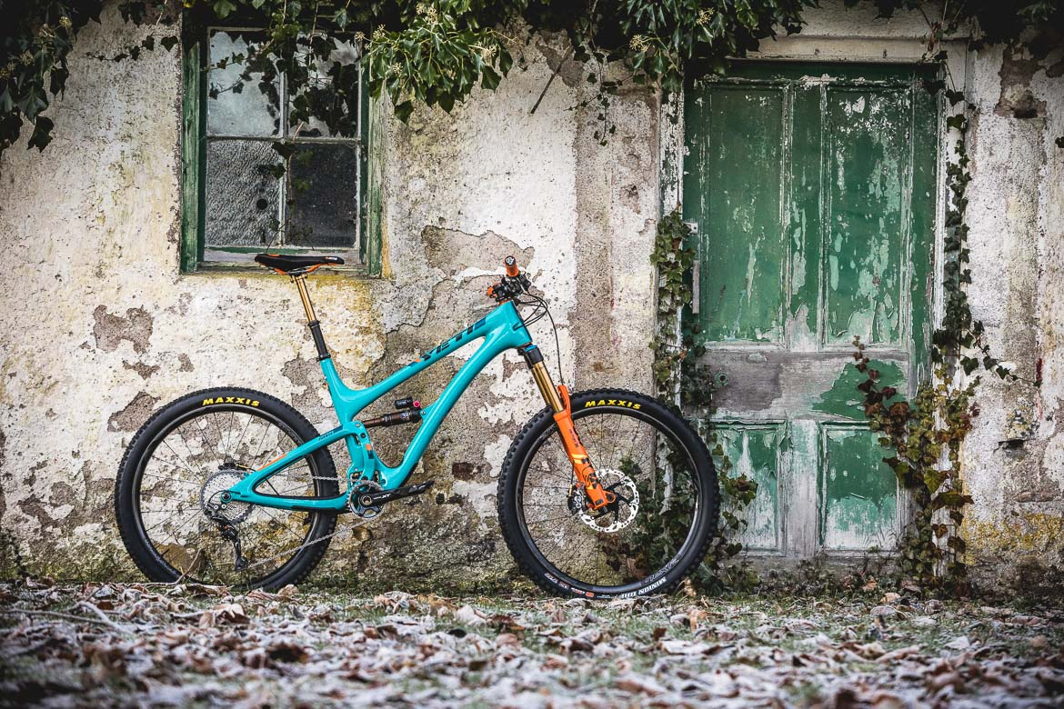 H+I Adventures guide's bikes, the Yeti SB5 LR Edition.