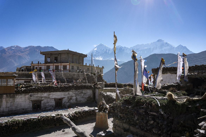 Mustang Valley, Nepal - rooftop tea stop views