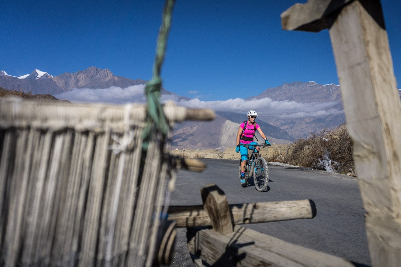 Mustang Valley, Nepal - climbing to Muktinath