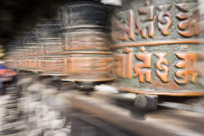 Mustang Valley, Nepal - prayer wheels
