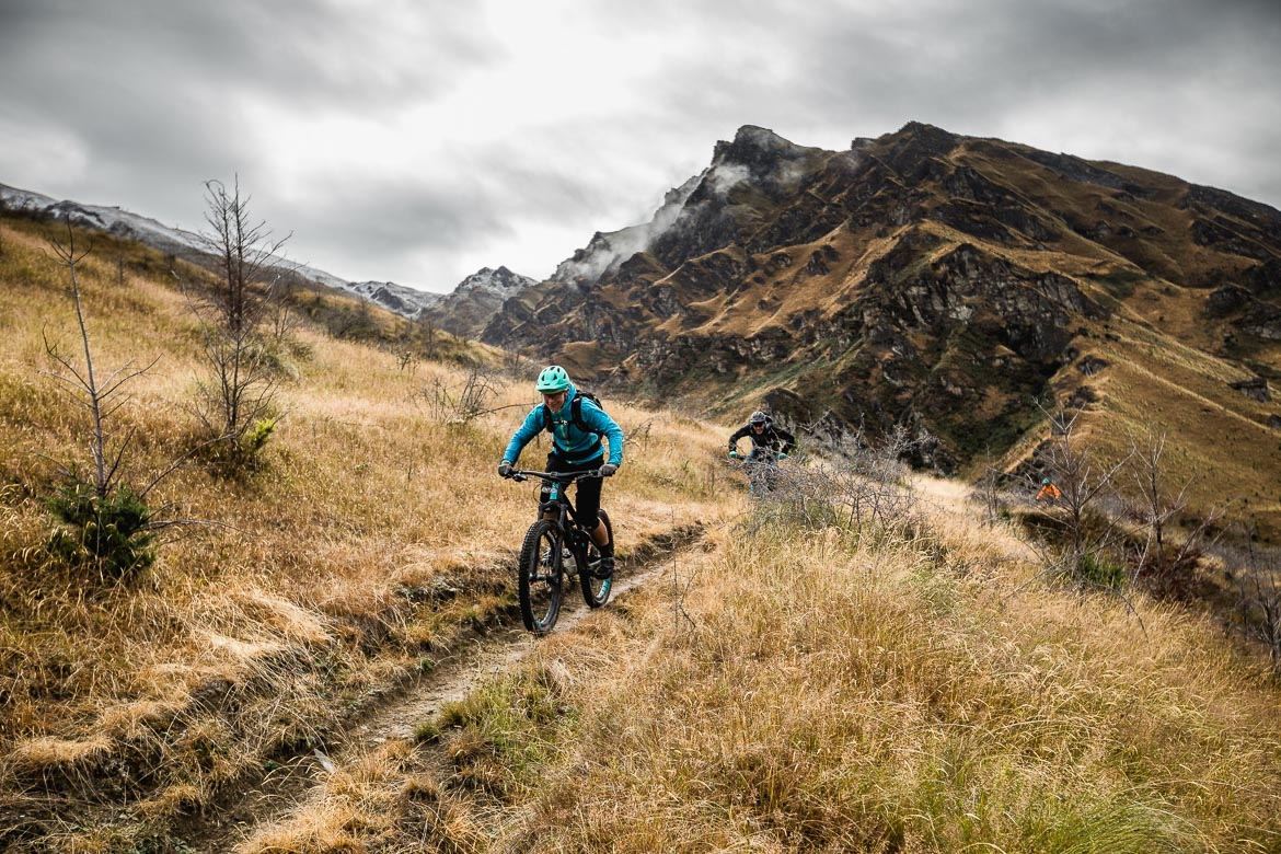 Mountain bikers enjoying the trails of Queenstown.