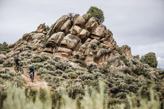 Riding at Hartman rocks during our mountain bike tour Colorado.