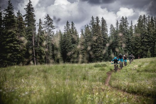 Riding 'Doctor park', an EWS stage in Crested Butte during our mountain bike tour Colorado.