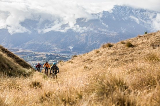 Mountain bike tour New Zealand - riding Coronet Peak in Queenstown
