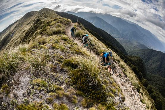 Above the tree line on the Old Ghost Road, part of our Mountain bike tour New Zealand.