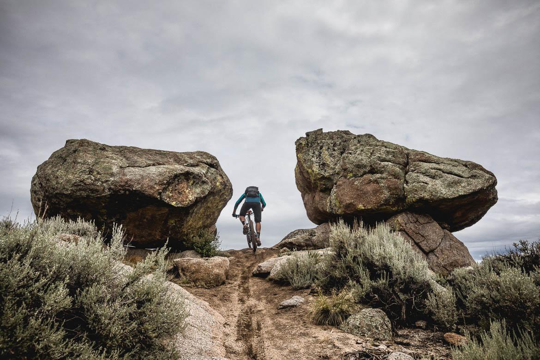 Riding at Hartman rocks during our mountain bike tour Colorado.