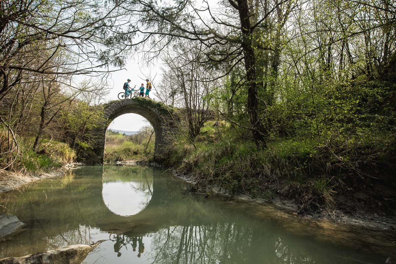 Ancient bridge on the way to ride the Cicarija hills, Croatian mtb scene