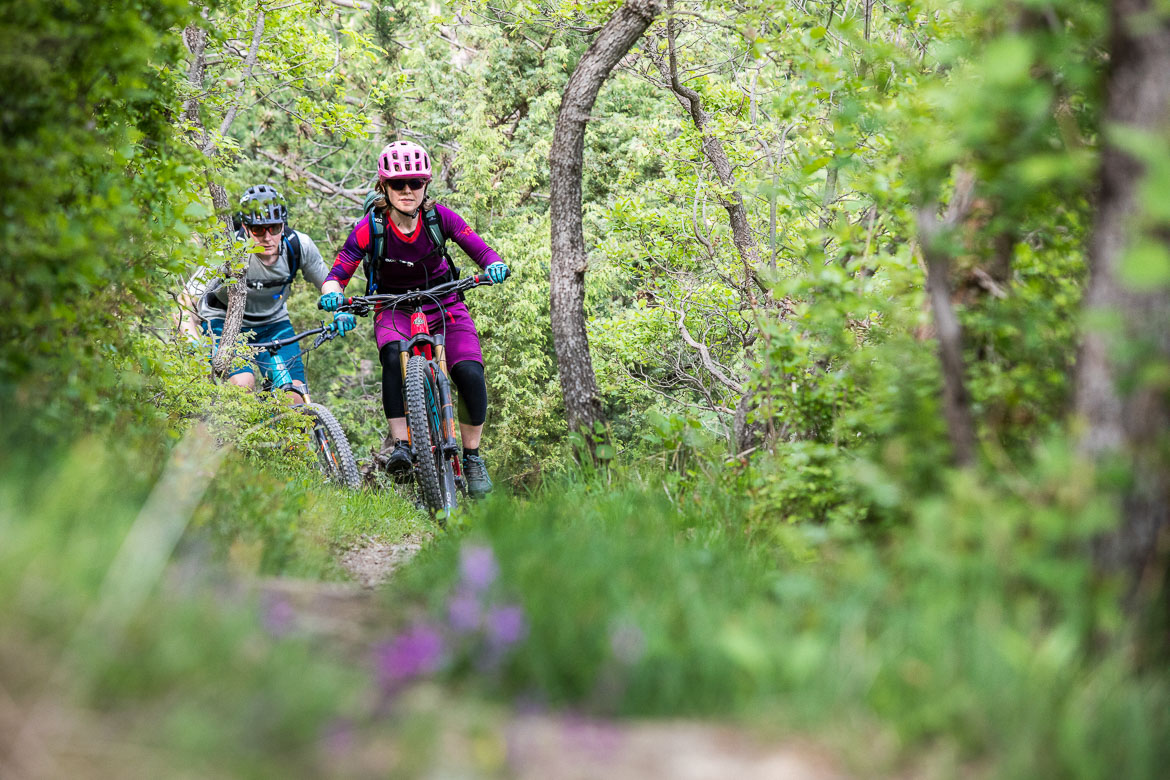 Mountain bikers in the forest, Croatian mtb scene. One of our highlights of 2018.