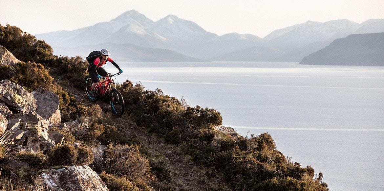 mountain bike tours - riding in Scotland