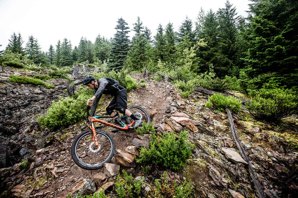 Scotty Laughland finds loose and dusty turns in British Columbia in photos