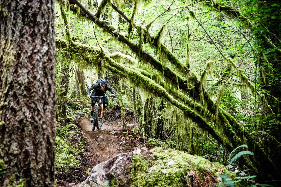 Natural singletrack trails in BC, Canada is some of the best in the world