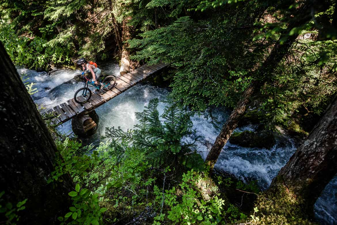 Riding North Shore on our British Columbia in photos epic adventure