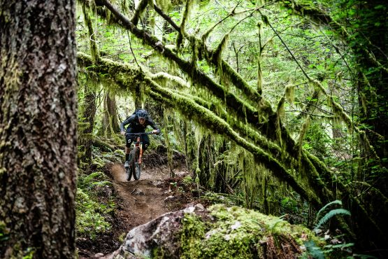 Scotty Laughland loving the BC loam with H+I Adventures on their MTB holiday in British Columbia