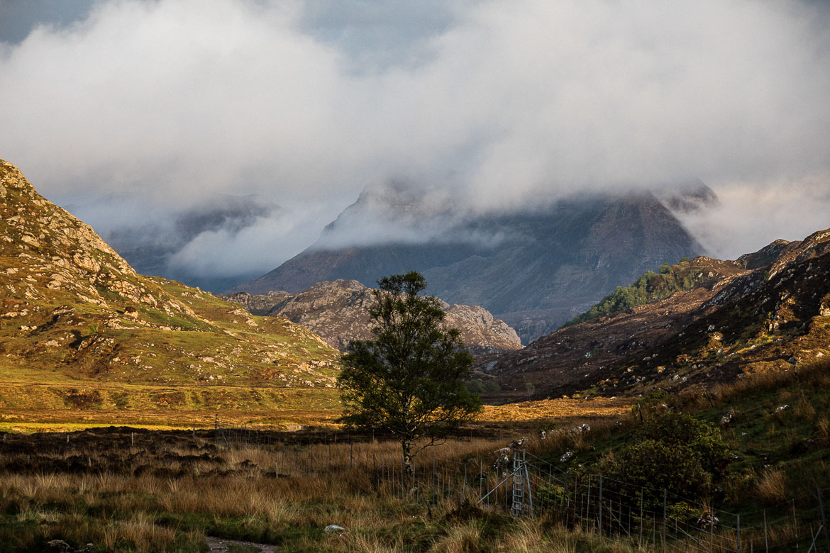 Cloud inversions and mountains, bikerafting Scotland. One of our mountain biking adventures in Europe.