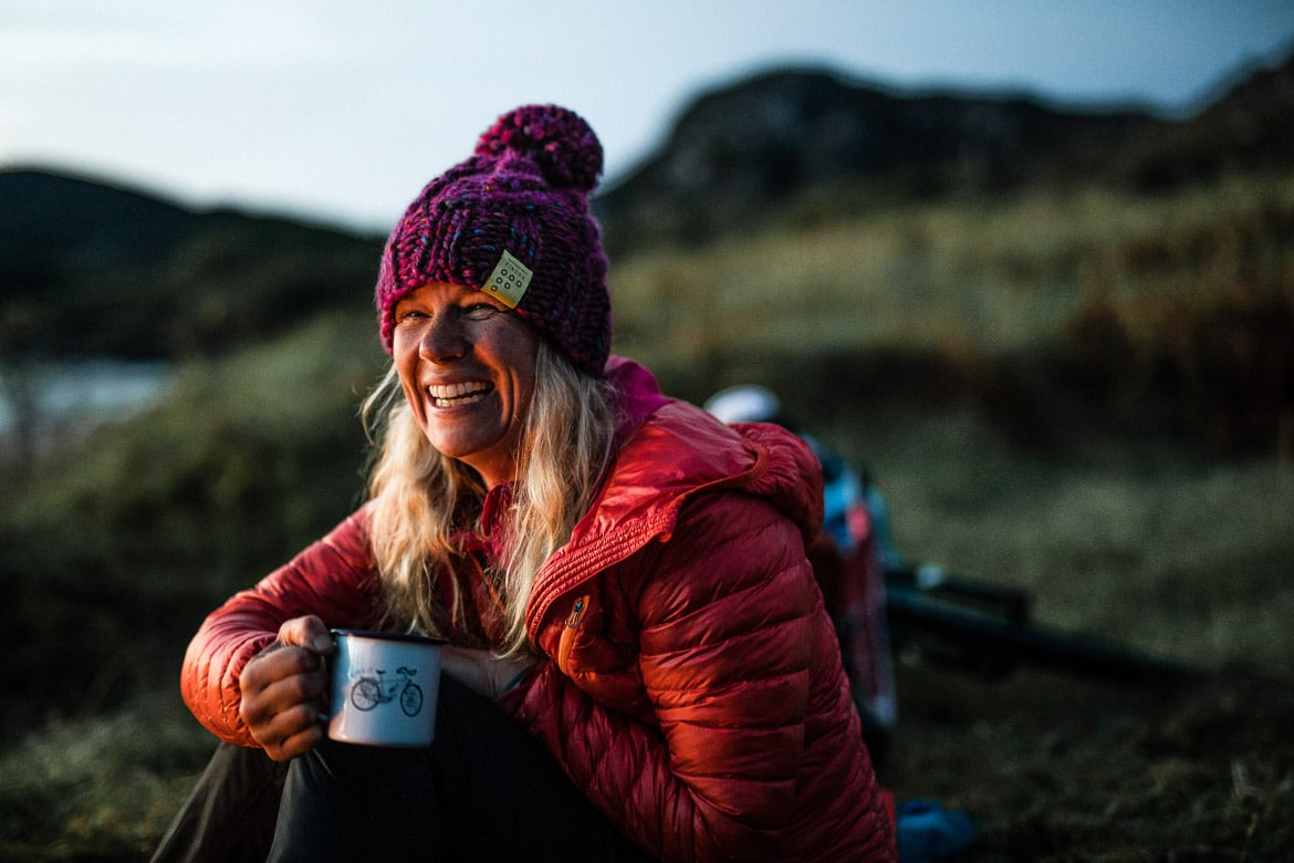 A hot drink after a hard day bikerafting