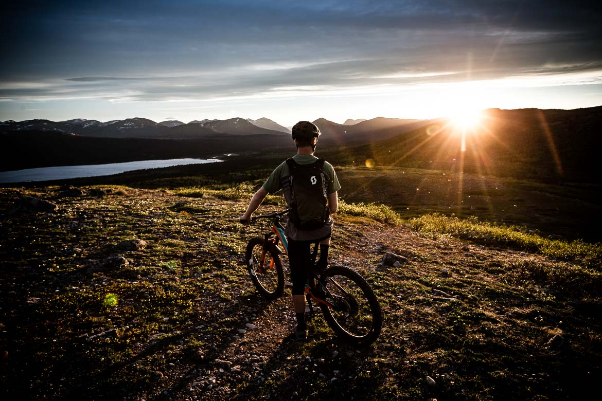 the perfect finish to the perfect day of mountain biking in the Yukon