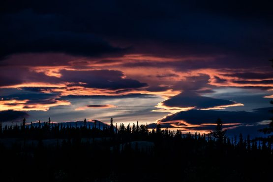 Perfect and dramatic sunsets on our guided mountain bike tour Yukon, Canada. One of our highlights of 2018.