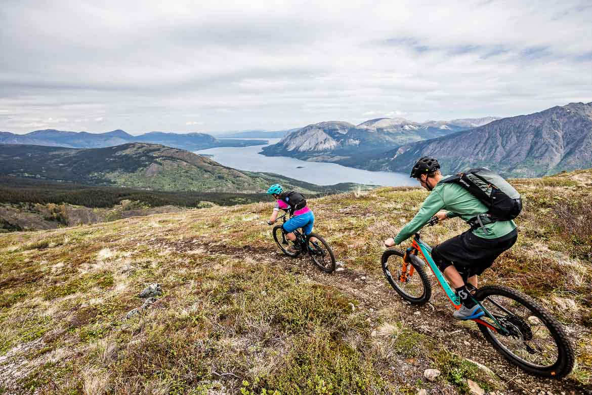 High elevation and high speed singletrack trails in the Yukon in photos