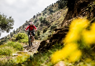 Morocco MTB guide Lahcen riding perfect singletrack