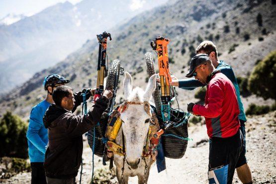 Packing bikes on our Mountain bike tour Morocco