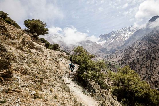 Fast, flowy, dusty and rocky Mountain bike trails in Morocco