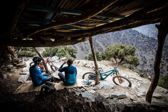 Sampling tea on our Mountain bike tour Morocco, Africa, Top 10 trails