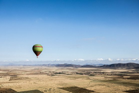 Hot air balloon trip on your mountain bike tour in Morocco, Africa