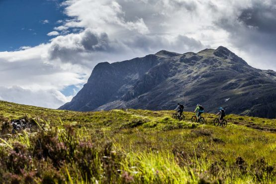 stunning climbs on the H+I Adventures coast-to-coast Scotland mountain bike vacation
