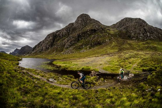 Wet feet on the coast-to-coast Scotland MTB tour