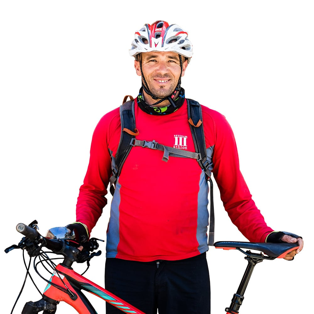Mountain bike tour guide Lahcen