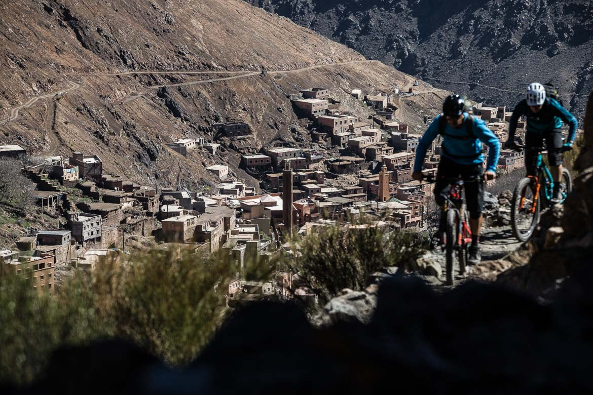 Mountain bike vacation Morocco in photos - climbing from Imlil. One of our highlights of 2018.
