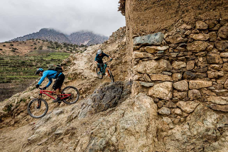 Mountain bike tour Morocco in photos - leaving the village