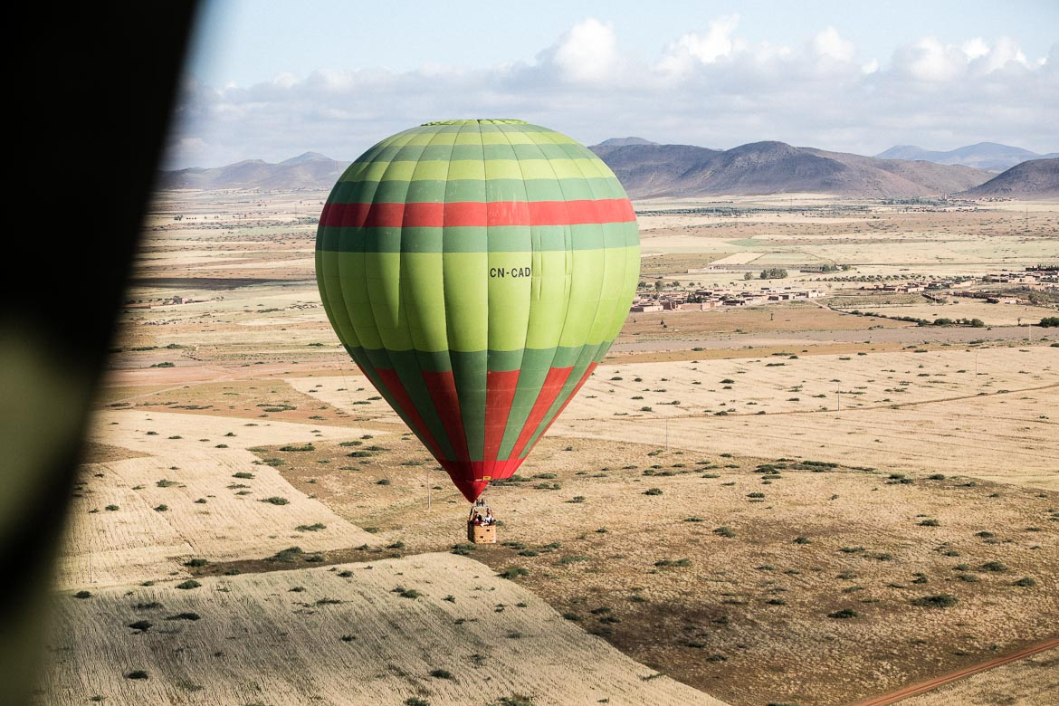 MTB tour Morocco in photos - Balloon riding